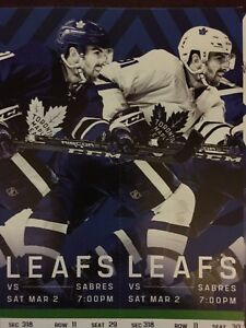 Toronto Maple Leafs vs. Buffalo Sabres- Sat. March 2