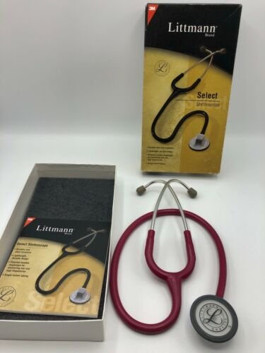 3M Littmann Select Stethoscope Raspberry 2296 28 inch Single-lumen tubing in Box