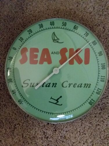 Vintage Advertising SEA and SKI thermometer 50