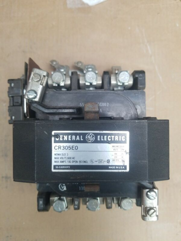 General Electric  NEW. CR305E0 Size 3 Motor Starter 120 Volt Coil GE