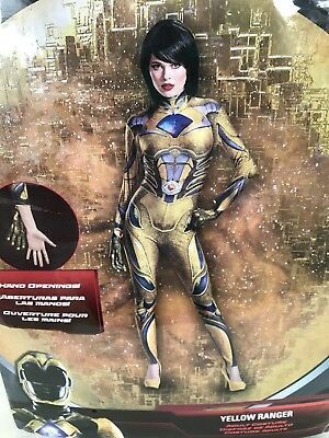 Sabans Power Rangers Yellow Ranger Adult Womens Halloween Costume Large 12-14 ()