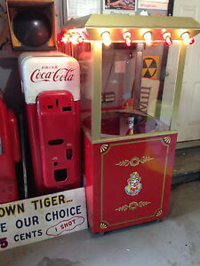 rare carnival cotton candy cart lighted marquee