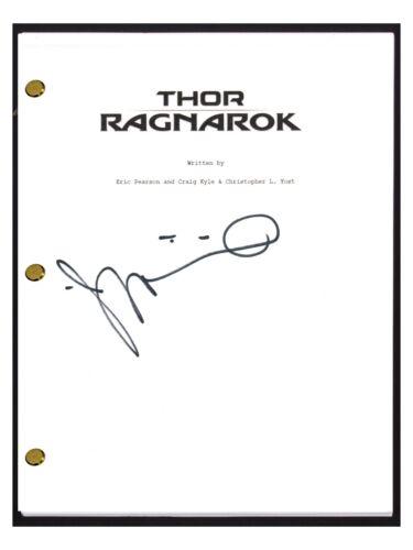 Taika Waititi Signed Autographed THOR RAGNAROK Movie Script Film Director COA