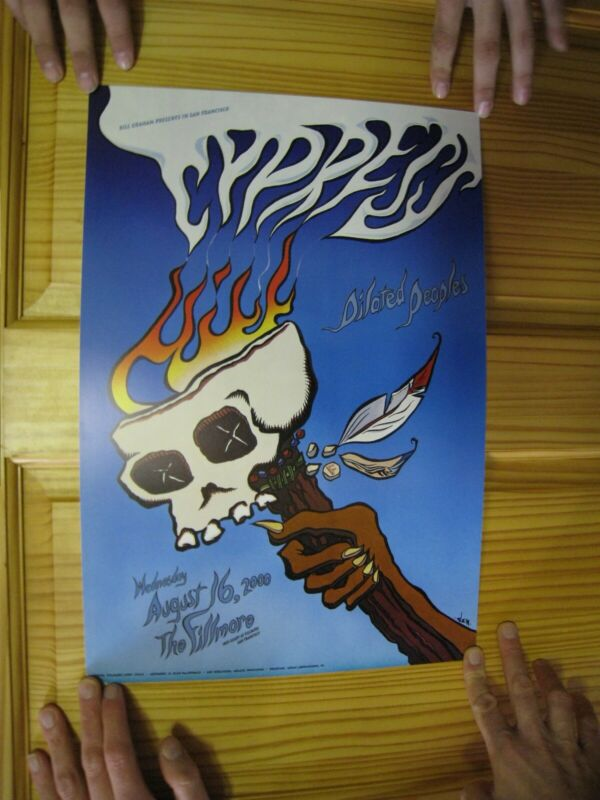 Cypress Hill Poster Fillmore Dilated Peoples Skull Torch August 16 2000