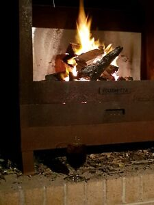 Outdoor wood fire place