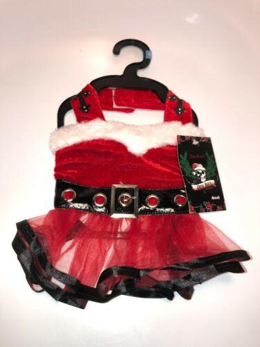 Bret Michaels Pets Rock Dog Christmas Red Velvet Costume Small