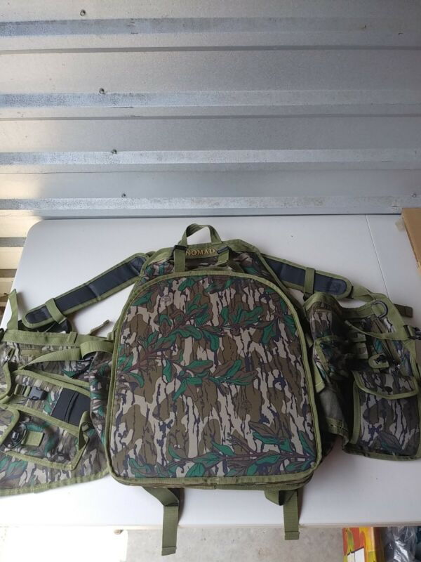 Nomad Pursuit Convertible Turkey Vest, Mossy Oak Bottomland, One Size Fits Most