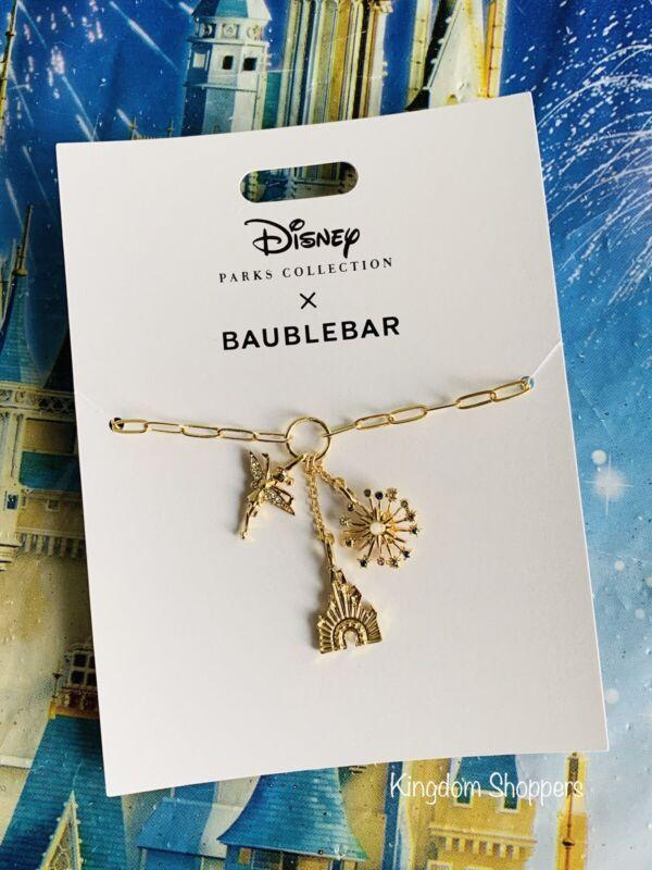 2021 Disney Parks 50th Celebration Cinderella Castle Necklace by BaubleBar NEW