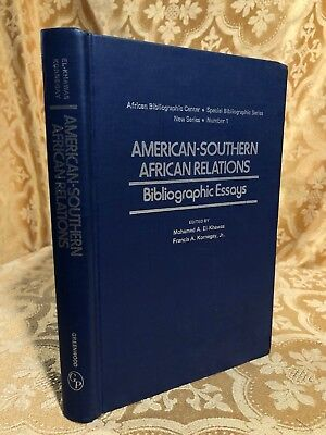 1975 American Southern African Relations Bibliographic Essays New Series 1