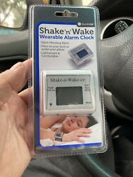 Shake 'N' Wake Alarm Clock Watch Silent Vibrating Wrist Travel Vibrating Alarm
