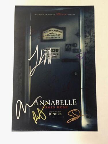 Annabelle Comes Home 3 Signed Autograph 11X17 Photo Poster Cast x8 James Wan COA