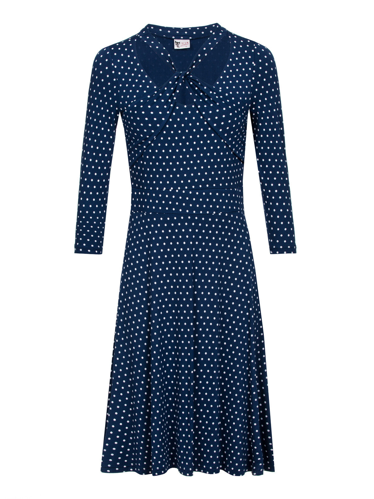 Pussy Deluxe Damen Kleid Lovely Marine Knotted Dress