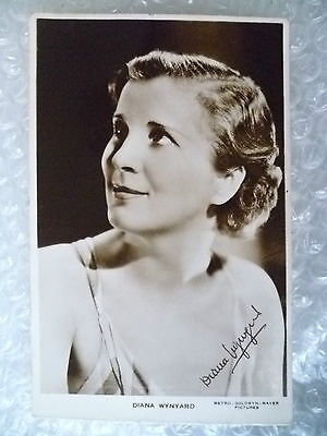 Real Photo Postcard- DIANA WYNYARD, English stage and film actress