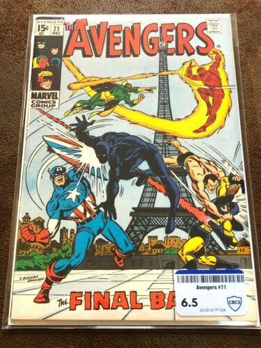 Avengers #71, CBCS (not CGC) Raw Grade 6.5 (FN), First App. Invaders!