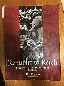 Republic to Reich : A History of Germany******1939 Georges Hall Bankstown Area Preview