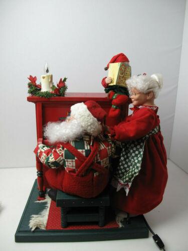 Vintage Holiday Creation  Animated sing along Santa & Mrs Santa cassette Player