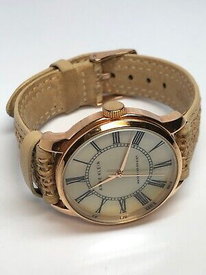 Anne Klein Ladies Round Rose Gold Tone Quartz Watch Pearl Face 10/9908