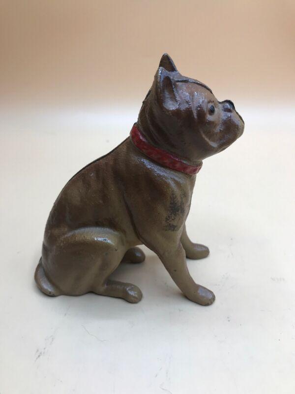 Boxer Bull Dog Cast Iron Bank Vintage