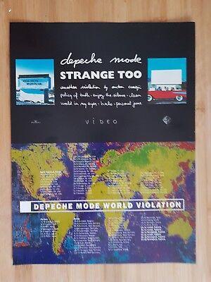 depeche mode magazine print ad for video strange too App 23x30cm