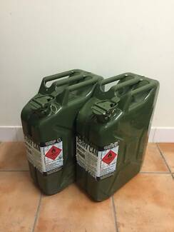 20L Steel Jerry Cans - Almost new!