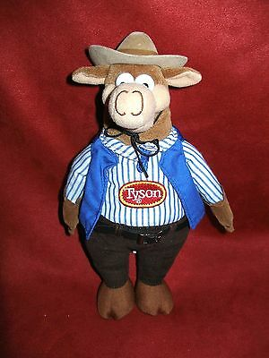 Tyson Foods  Cowvin  Cow Beef Mascot 10 Plush Stuffed Doll Bean Bag Stuffed