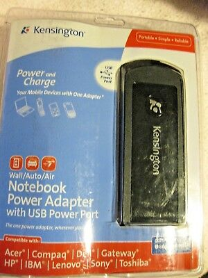 Kensington Wall/Auto/Air Notebook Power Adapter with Usb Power Port K33403us  Kensington Power Port
