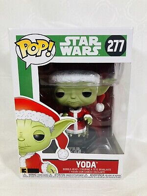 Funko Pop! Holiday #277 Star Wars Yoda Christmas Figure With Soft Protector