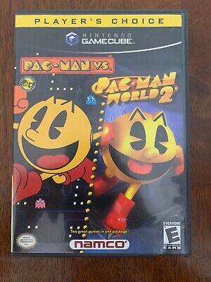 PAC-MAN VS./PAC-MAN WORLD 2 FOR NINTENDO GAMECUBE CIB COMPLETE IN BOX