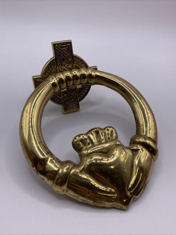 vintage Solid Brass Liffey Artefacts Dublin Door Knocker sign Spain