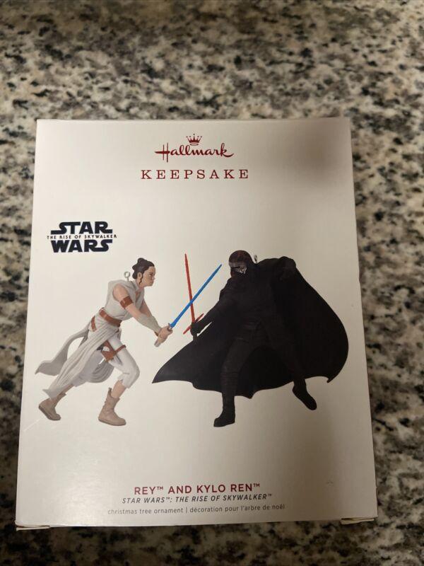 2019 Hallmark Keepsake Ornament Rey Rise of Skywalker and Kylo Ren Star Wars