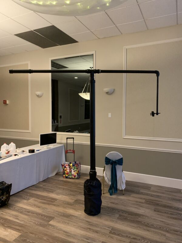 360 photobooth overhead with no platform needed