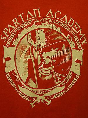 300 Spartan Academy King Leonidas War Warrior Tee Fury Sparta Large Red T-Shirt - Spartan War 300