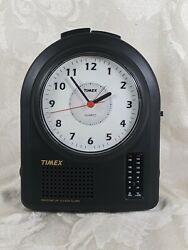 Timex FM/AM Quartz Clock Radio 3 Nature Sounds Alarm Analog Rare!