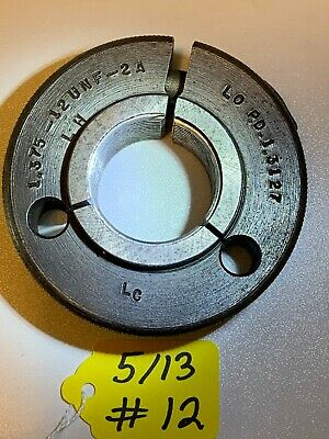 Thread Ring Gage 1.375 1 38 12- Unf-2a Lh  Lo- Pd 1.3127
