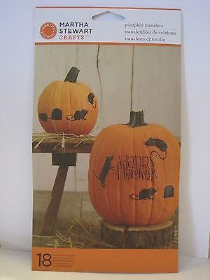 Martha Stewart Crafts-Halloween Pumpkin Decorations-Transfers / Stickers - - Halloween Decorations Craft