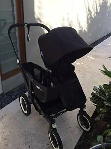 Bugaboo Donkey Duo Stroller | Black Frame | Accessories included New Farm Brisbane North East Preview