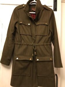 Women's olive green trench coat