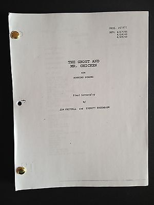 Script GHOST and MR. CHICKEN 1965 Don KNOTTS from Andy GRIFFITH 6/29/65