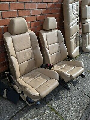 BMW E60 FRONT & REAR BEIGE LEATHER SEATS