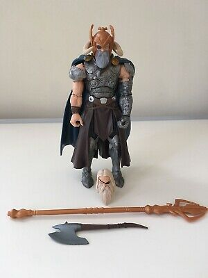 Marvel Legends 6in Allfather Odin Thor Complete BAF Avengers Hasbro 2015 New NR
