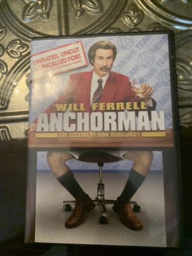 Anchorman The Legend Of Ron Burgundy DVD, 2004, Extended Edition Widescreen  - $1.25