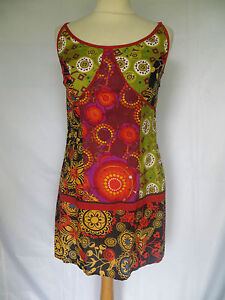 Vetement ethnique robe hippie baba cool style bretelles ebay - Vetements hippie baba cool ...
