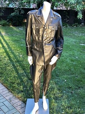Northbound Leather Police-style Leather Uniform Jacket & Breeches Folsom Shirt