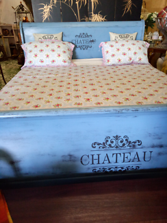 French Provincial Sleigh Bed,  King Size
