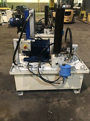 15hp 66 Gallon Hydraulic Power Unit Assembly Wheat Exchanger 3000 Psi 480v 3ph