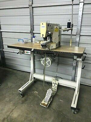Juki Lk-1852 Industrial Bartack Sewing Machine 28 Stitches Kessler Stand Motor