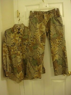 66728fc59ada7 Men's Lot of 2 Red Head Camouflage Hunting Jeans Size 33 x 26 & Shirt Size  L USA