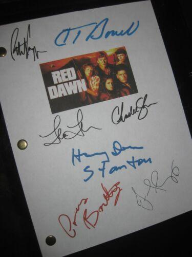 Red Dawn Signed Film Script X7 Patrick Swayze Howell Thompson Sheen Grey Reprint