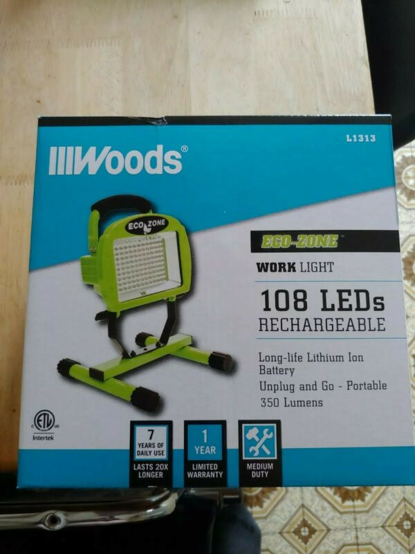 Wholesale Lot / Case of 6 Woods 108 LED Rechargeable Portable Work Light L1313