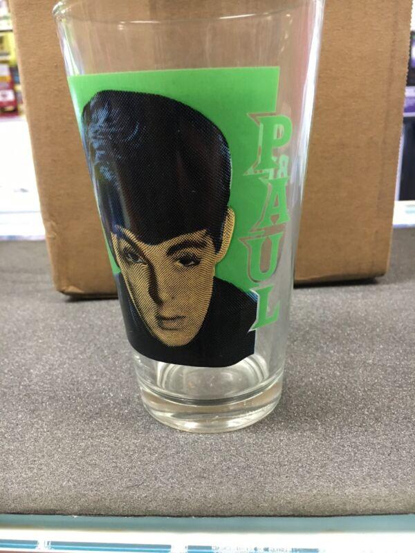 The Beatles paul mccartney Glass Drinking Cup  14 Ounce Please Read Description